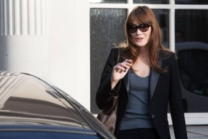 CARLA BRUNI-SARKOZY ARRIVING AT THE TAPING OF FRENCH TV SHOW 'VIVEMENT DIMANCHE' HELD AT THE STUDIO GABRIEL IN PARIS, FRANCE, ON APRIL 17, 2013. PHOTO BY AUDREY POREE/ABACAPRESS. COM